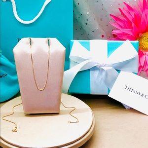 "Tiffany & Co. 18k Rose Gold Beaded Chain, 18"""